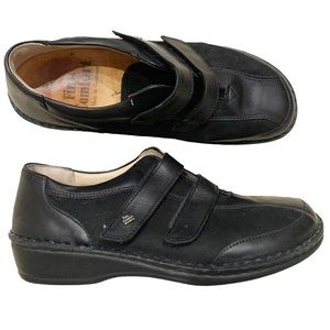 Finn Comfort Black Leather & Suede Shoes 9